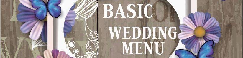 5a BASIC WEDDING MENU