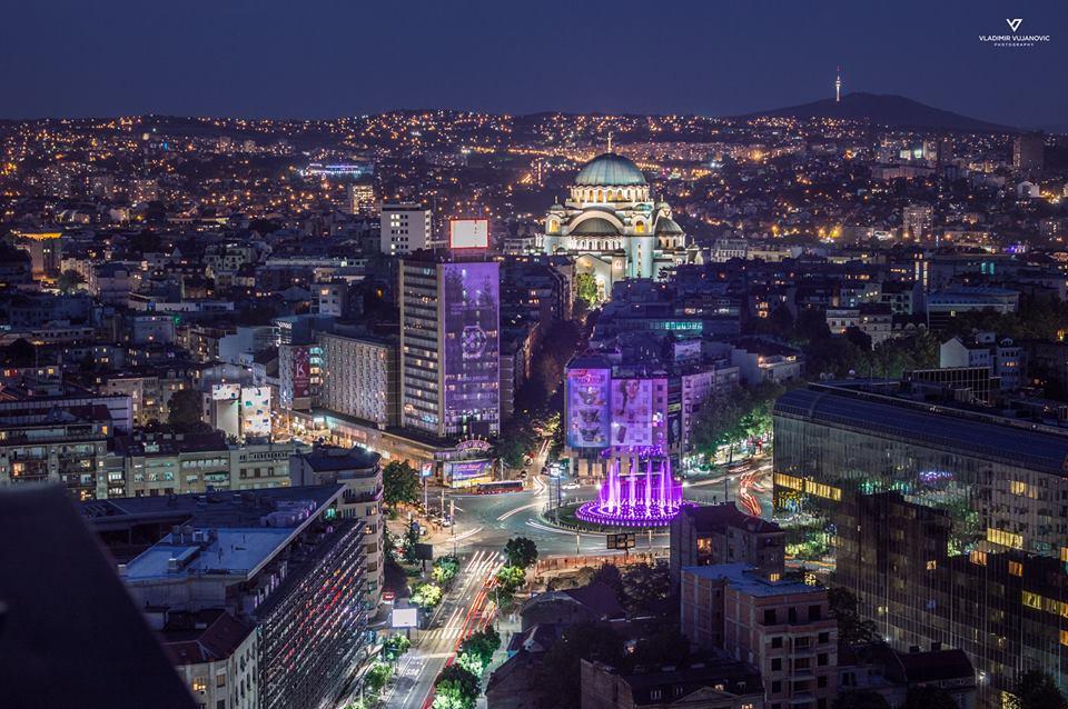 Trg Slavija i nova fontana